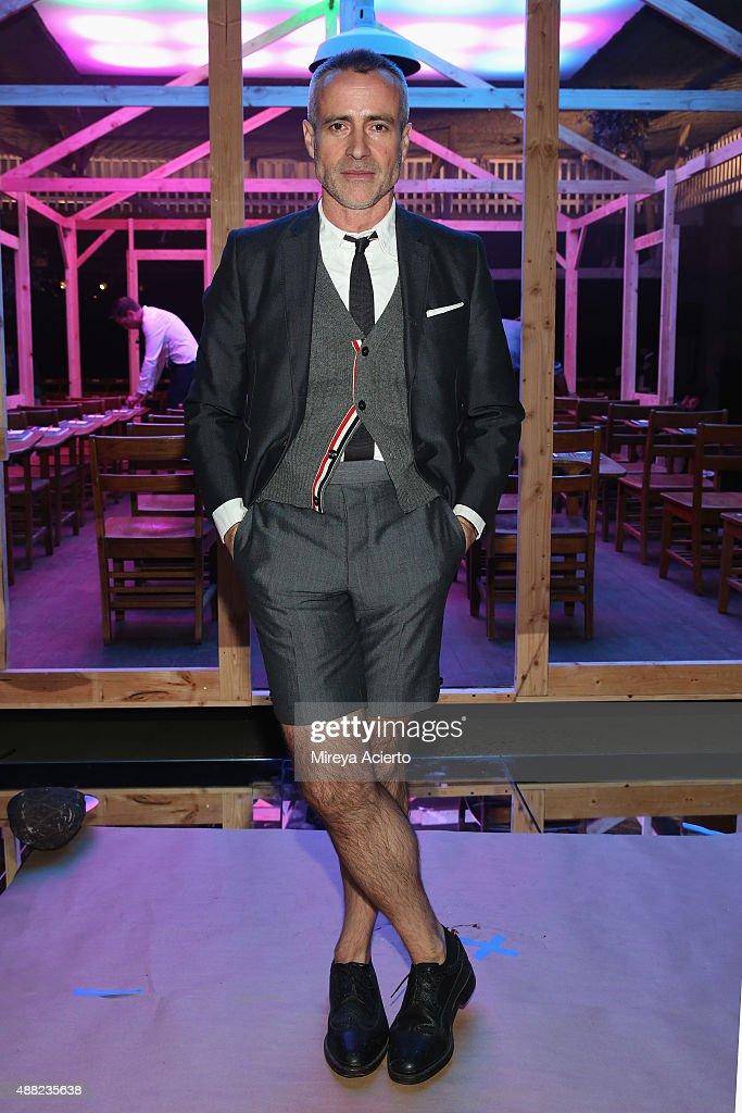 Thom Browne - Backstage - Spring 2016 New York Fashion Week