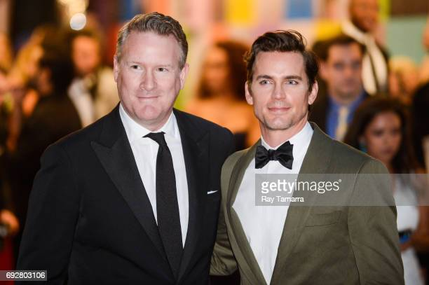 Fashion designer Todd Snyder and actor Matt Bomer enter the CFDA Fashion Awards at Hammerstein Ballroom on June 5 2017 in New York City