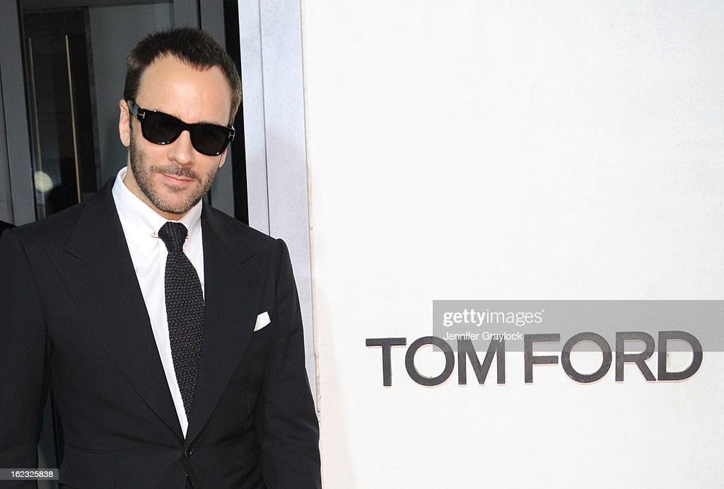 Fashion Designer Tom Ford attends the Tom Ford cocktail party in support of Project Angel Food Media held at TOM FORD boutique on February 21, 2013 in Beverly Hills, California.