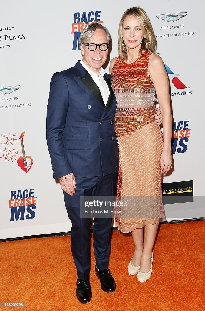 Fashion designer Tommy Hilfiger (L) and Dee Hilfiger attend the 20th Annual Race to Erase MS Gala 'Love to Erase MS' at the Hyatt Regency Century Plaza on May 3, 2013 in Century City, California.