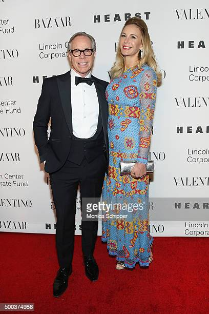 Fashion designer Tommy Hilfiger and Dee Ocleppo Hilfiger attend 'An Evening Honoring Valentino' Lincoln Center Corporate Fund Gala Inside Arrivals at...