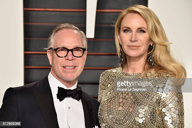 Fashion designer Tommy Hilfiger and model Dee Ocleppo attend the 2016 Vanity Fair Oscar Party Hosted By Graydon Carter at the Wallis Annenberg Center...