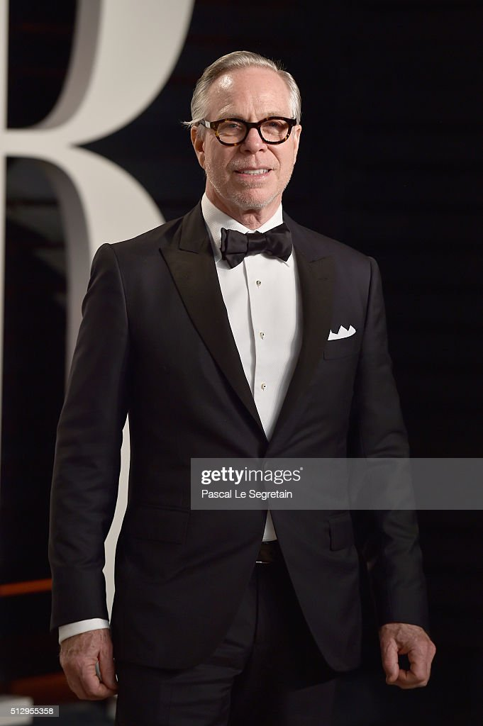 Fashion designer <a gi-track='captionPersonalityLinkClicked' href=/galleries/search?phrase=Tommy+Hilfiger+-+Fashion+Designer&family=editorial&specificpeople=4442212 ng-click='$event.stopPropagation()'>Tommy Hilfiger</a> attends the 2016 Vanity Fair Oscar Party Hosted By Graydon Carter at the Wallis Annenberg Center for the Performing Arts on February 28, 2016 in Beverly Hills, California.