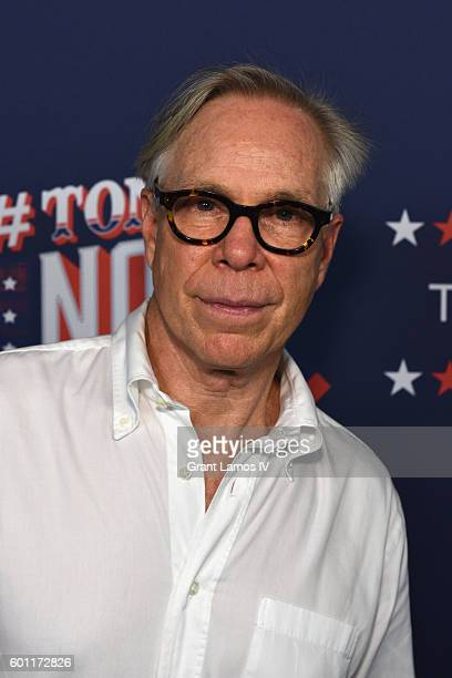 Fashion designer Tommy Hilfiger attends the #TOMMYNOW Women's Fashion Show during New York Fashion Week at Pier 16 on September 9 2016 in New York...