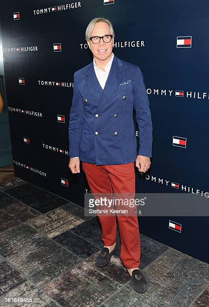 Fashion designer Tommy Hilfiger attends Tommy Hilfiger New West Coast Flagship Opening After Party at a Private Club on February 13 2013 in West...