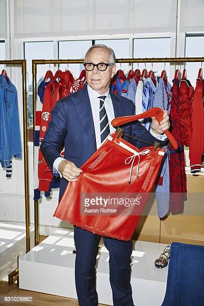 Fashion designer Tommy Hilfiger is photographed for Rhapsody Magazine on August 3 2016 in his showroom in New York City ON EMBARGO UNTIL FEBRUARY 1...