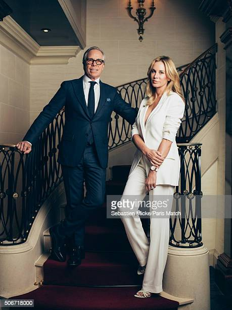 Fashion designer Tommy Hilfiger is photographed with his wife Dee for Paris Match on December 8 2015 in New York City