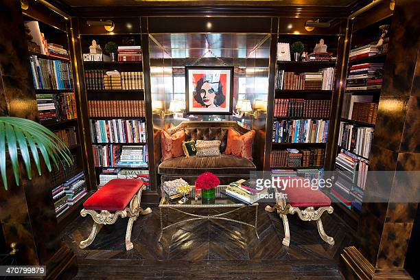 Fashion designer Tommy Hilfiger's home is photographed for USA Today on February 4 2014 in New York City Hollywood icon Elizabeth Taylor takes center...