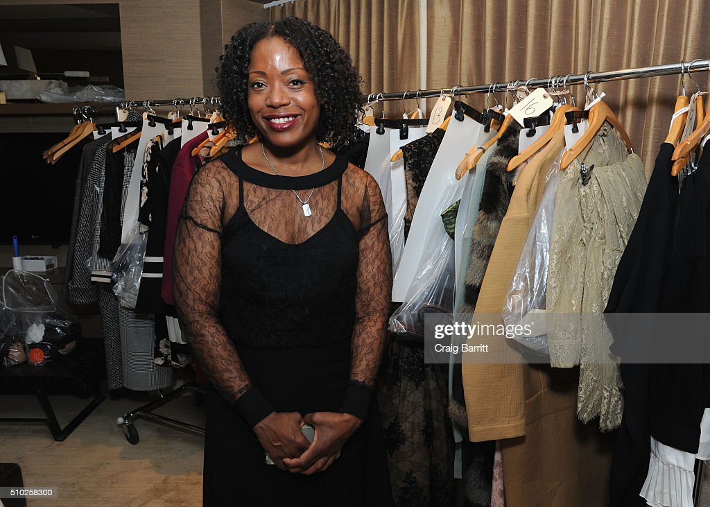 Fashion designer Tracy Reese poses at Mary Kay at Tracy Reese F/W '16- Presentation during New York Fashion Week at Roxy Hotel on February 14, 2016 in New York City.
