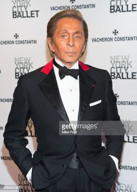Fashion Designer Valentino attends the New York City Ballet 2014 Spring Gala at David H Koch Theater Lincoln Center on May 8 2014 in New York City