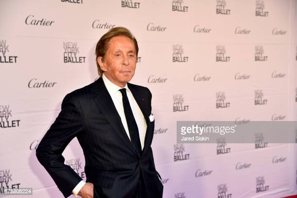 Fashion designer Valentino Garavani attends the New York City Ballet 2017 Spring Gala at David H Koch Theater Lincoln Center on May 4 2017 in New...