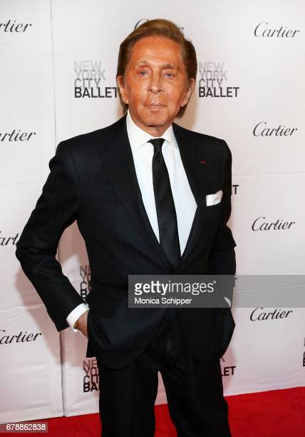 Fashion designer Valentino Garavani attends the New York City Ballet 2017 Spring Gala at David H Koch Theater at Lincoln Center on May 4 2017 in New...