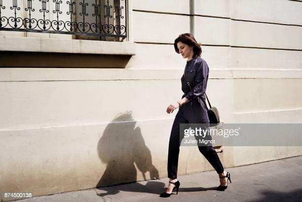 Fashion Designer Vanessa Seward is photographed for Grazia Magazine on July 2015 in Paris France