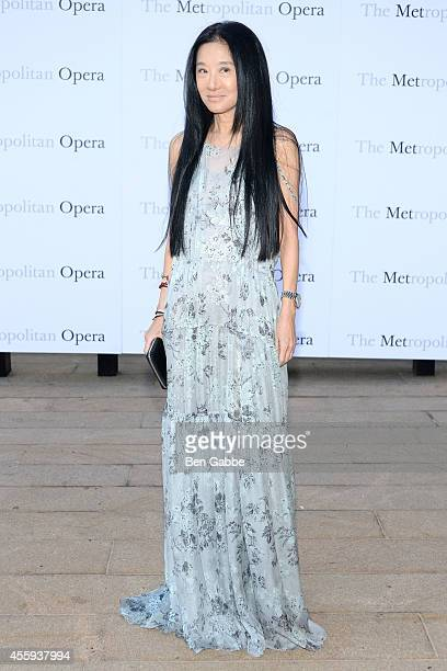 Fashion designer Vera Wang attends the Metropolitan Opera Season Opening at The Metropolitan Opera House on September 22 2014 in New York City