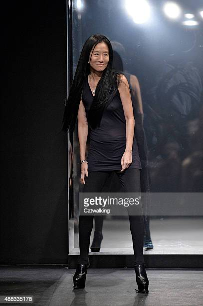 Fashion designer Vera Wang walks the runway at the Vera Wang Spring Summer 2016 fashion show during New York Fashion Week on September 15 2015 in New...