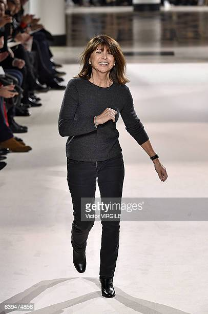 Fashion designer Veronique Nichanian walks the runway during the Hermes Menswear Fall/Winter 20172018 show as part of Paris Fashion Week on January...