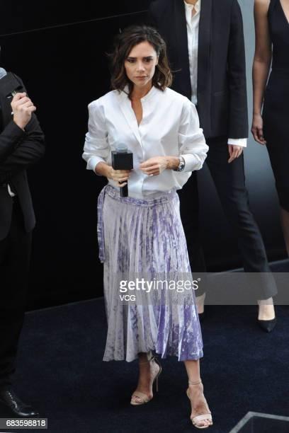 Fashion designer Victoria Beckham attends Estee Lauder activity on May 16 2017 in Shanghai China