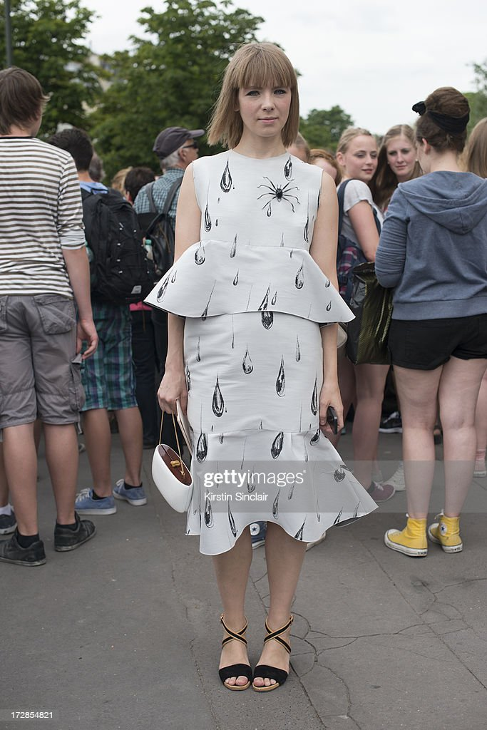 Fashion designer Vika Gazinskaya on day 2 of Paris Collections: Womens Haute Couture on July 02, 2013 in Paris, France.