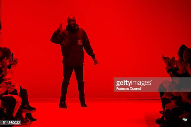 Fashion designer Virgil Abloh walks the runway during the OFF/White show as part of the Paris Fashion Week Womenswear Fall/Winter 2016/2017 on March...