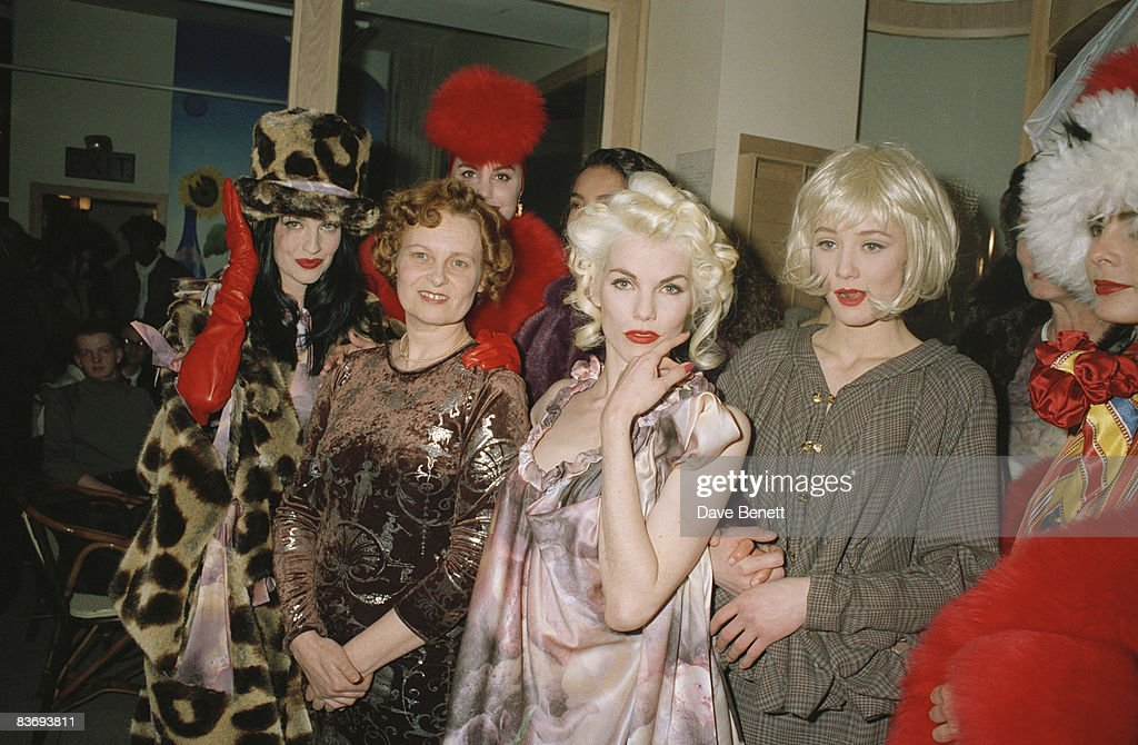 Fashion designer Vivienne Westwood with her muse fashion model Sara Stockbridge 3rd October 1991