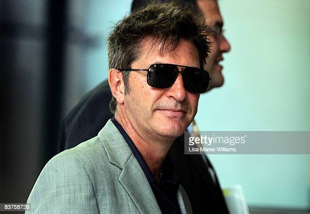 Fashion designer Wayne Cooper arrives at the Supreme Court of New South Wales on November 20 2008 in Sydney Australia Cooper is in court to negotiate...