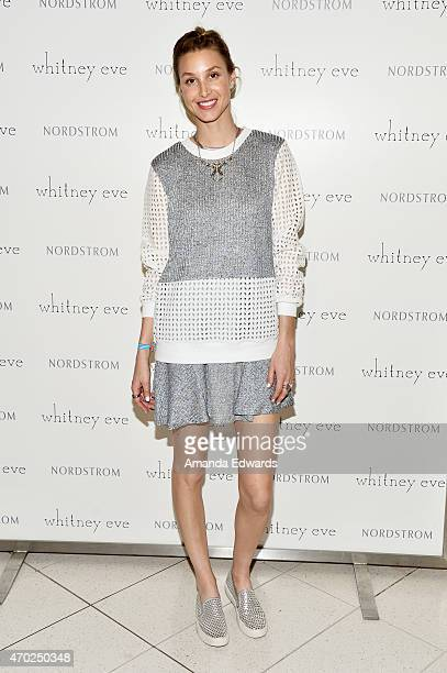 Fashion designer Whitney Port attends the Whitney Eve 'How We Roll' Spring Road Tour at The Grove on April 18 2015 in Los Angeles California