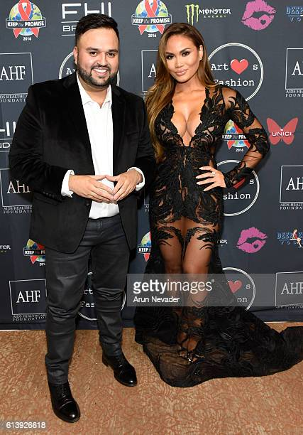 Fashion designer Willfredo Gerardo and actress Daphne Joy attend Art Hearts Fashion Los Angeles Fashion Week Day 2 on October 10 2016 in Los Angeles...