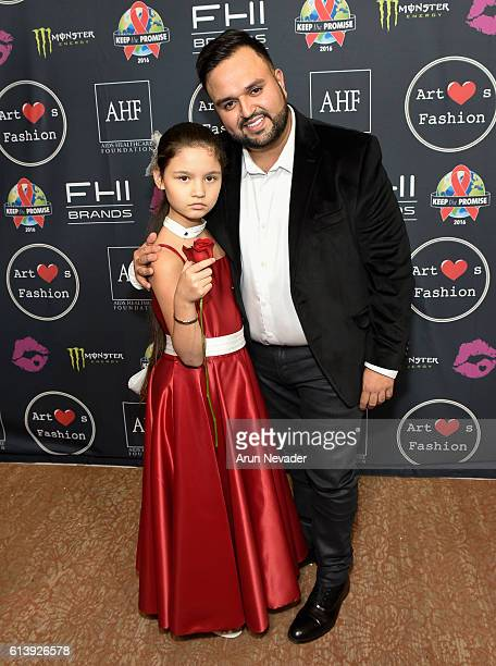 Fashion designer Willfredo Gerardo and Amelia SuLin attend Art Hearts Fashion Los Angeles Fashion Week Day 2 on October 10 2016 in Los Angeles...