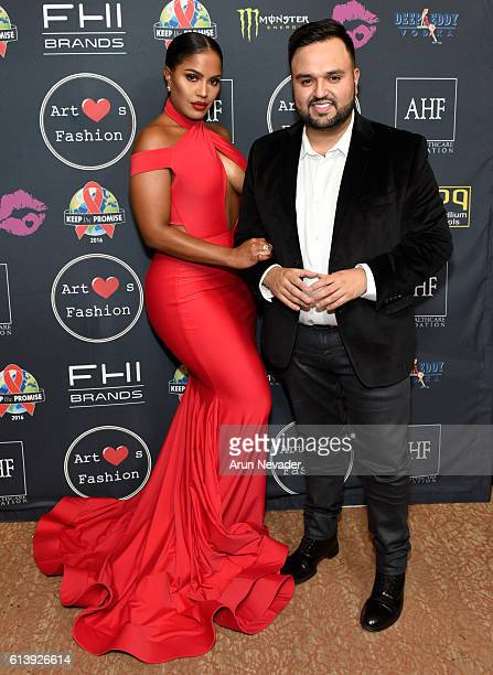 Fashion designer Willfredo Gerardo and makeup artist Makeup Shayla attend Art Hearts Fashion Los Angeles Fashion Week Day 2 on October 10 2016 in Los...