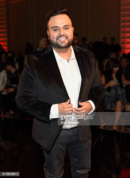Fashion designer Willfredo Gerardo attends Art Hearts Fashion Los Angeles Fashion Week Day 2 on October 10 2016 in Los Angeles California