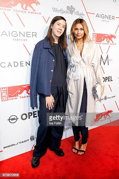 Fashion Designer William Fan and german moderator Wana Limar attend New Faces Award Style on November 16 2016 in Berlin Germany