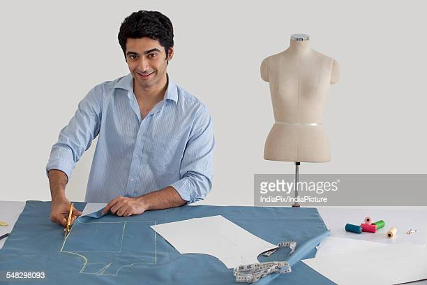 Fashion designer working in fashion studio
