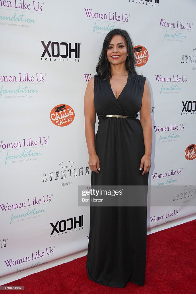 Fashion designer Xochi Medina attends the Women Like Us Foundation's One Girl at a Time Fundraiser at the Aventine Hollywood on July 30, 2013 in Hollywood, California.