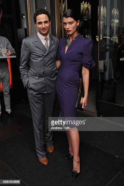 Fashion designer Zac Posen and model Crystal Renn attend MAC Cosmetics launch of the Brooke Shields Collection at 5th Avenue Flagship in NYC on...
