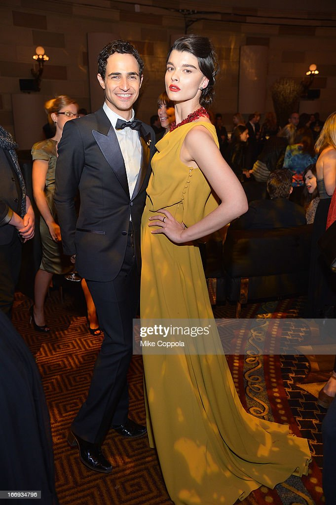 Fashion designer Zac Posen and model <a gi-track='captionPersonalityLinkClicked' href=/galleries/search?phrase=Crystal+Renn&family=editorial&specificpeople=2216376 ng-click='$event.stopPropagation()'>Crystal Renn</a> attend the 'As Good As Gold' MAGNUM Gold?! Film Premiere on April 18, 2013 in New York City.