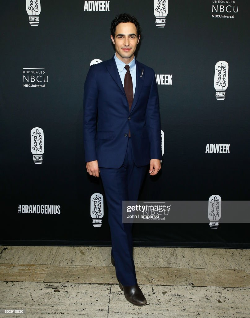 Fashion designer , Zac Posen attends 28th Annual Adweek Brand Genius Gala at Cipriani 25 Broadway on October 18, 2017 in New York City.