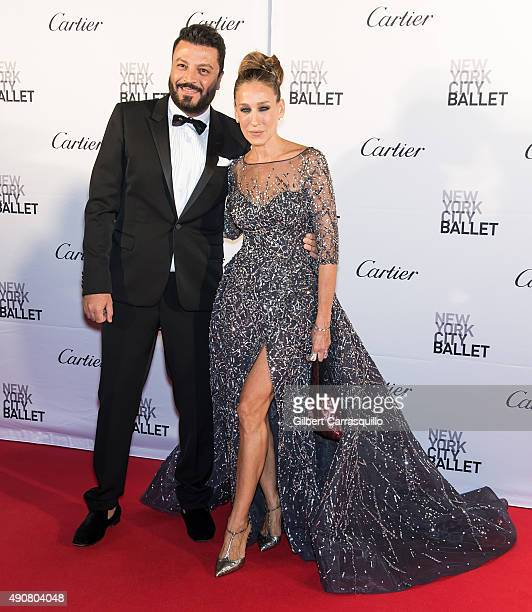 Fashion designer Zuhair Murad and actress Sarah Jessica Parker attend the 2015 New York City Ballet Fall Gala at David H Koch Theater at Lincoln...