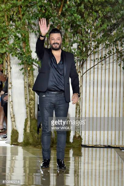 Fashion designer Zuhair Murad walks the runway during the Zuhair Murad Haute Couture Fall/Winter 20172018 show as part of Haute Couture Paris Fashion...