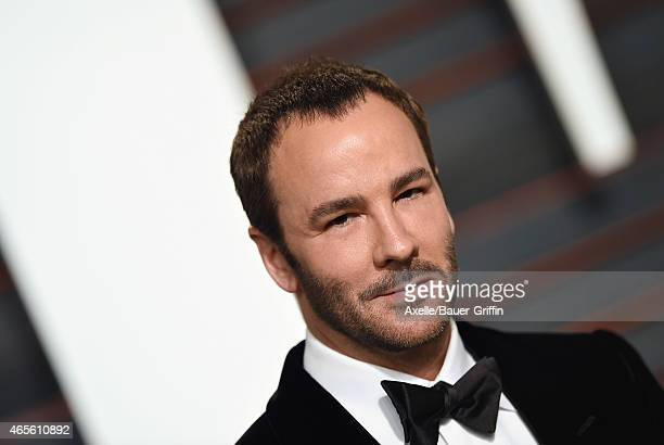 Fashion designer/director Tom Ford arrives at the 2015 Vanity Fair Oscar Party Hosted By Graydon Carter at Wallis Annenberg Center for the Performing...