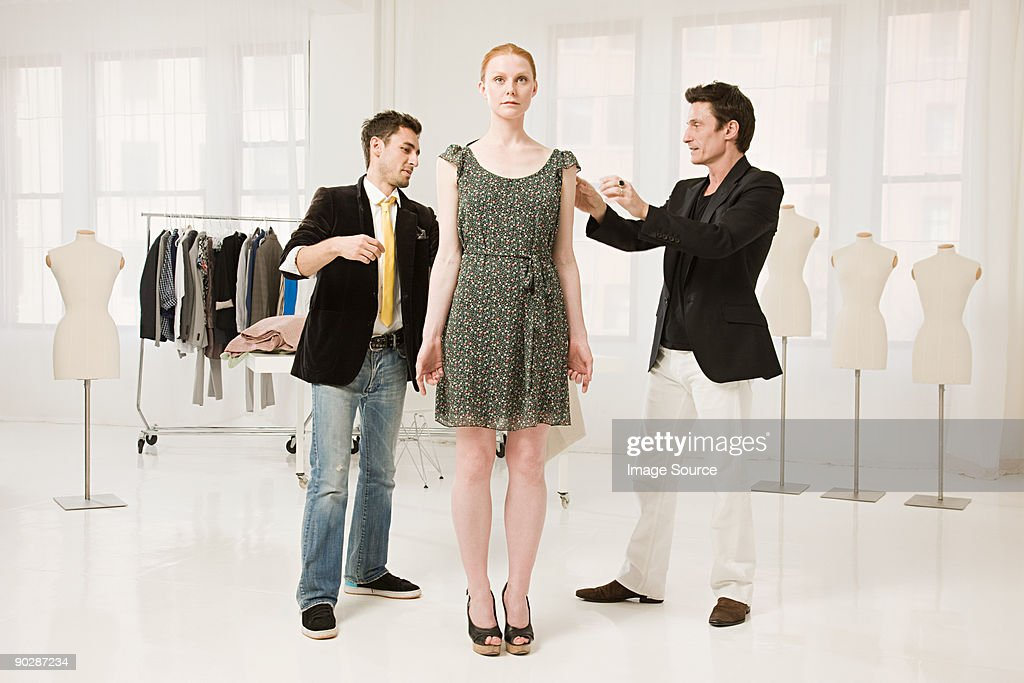Male fashion designer at work