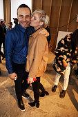 Fashion designers Carlos Campos and Megan Key attend the Carlos Campos New York Fashion Week Men's Fall/Winter 2016 presentation at Skylight at...