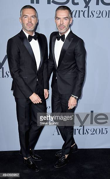 Fashion designers Dan Caten and Dean Caten attend the InStyle Awards at Getty Center on October 26 2015 in Los Angeles California