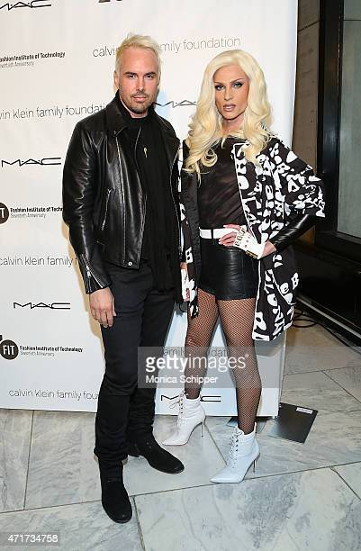 Fashion Designers David Blond and Philllipe Blond of The Blonds attends 2015 FIT Future Of Fashion Runway Show at The Fashion Institute of Technology...
