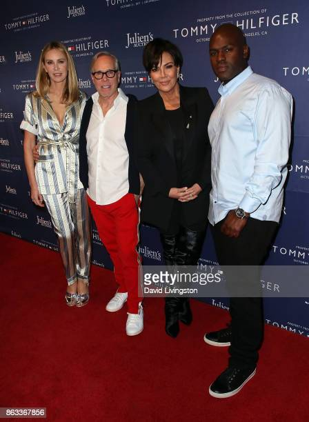 Fashion designers Dee Ocleppo Hilfiger and Tommy Hilfiger TV personality Kris Jenner and Corey Gamble attend Julien's Auctions and Tommy Hilfiger VIP...