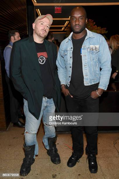 Fashion designers Demna Gvasalia and Virgil Abloh attend Vogue's Forces of Fashion Conference at Milk Studios on October 12 2017 in New York City