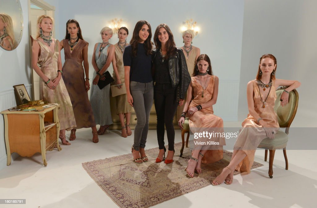 Fashion designers Jodie and Danielle Snyder attend the Dannijo presentation during Mercedes-Benz Fashion Week Spring 2014 at Industria Studios on September 9, 2013 in New York City.