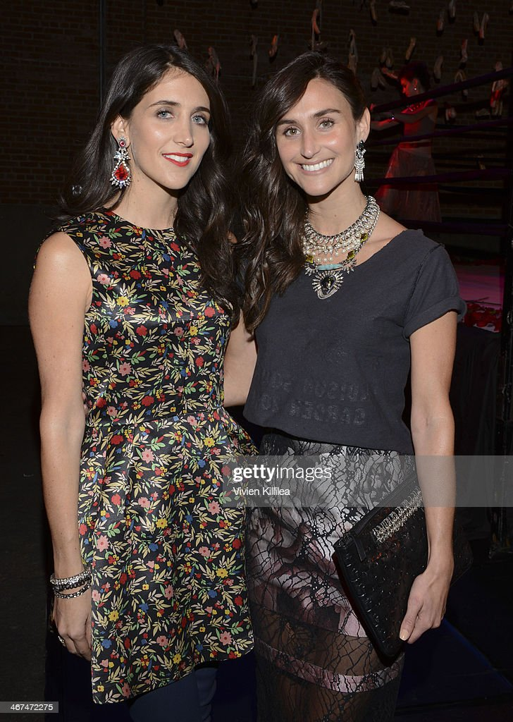 Fashion designers Jodie Snyder and Danielle Snyder attend Dannijo Presentation MercedesBenz Fashion Week Fall 2014 at Eyebeam on February 6 2014 in...