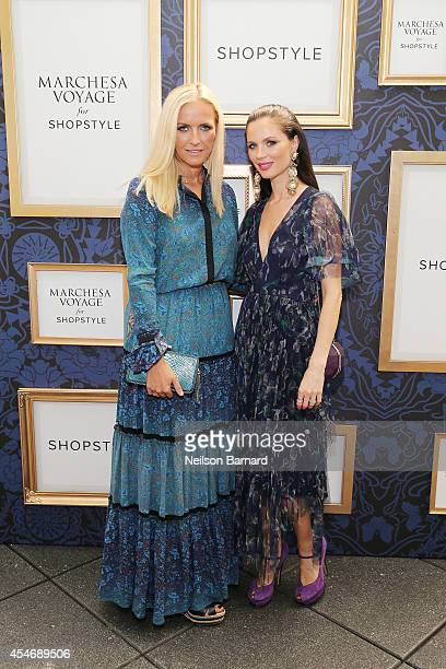 Fashion designers Keren Craig and Georgina Chapman of Marchesa attend an exclusive preview of the Marchesa Voyage for ShopStyle collection on...