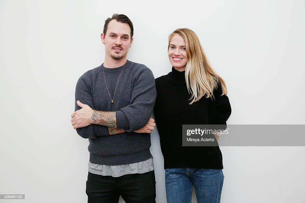 Fashion designers Kristopher Brock and Laura Vassar pose backstage at the Brock Collection fashion show during Fall 2016 MADE Fashion Week at Milk Studios on February 11, 2016 in New York City.