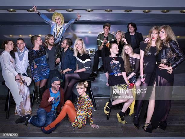Fashion designers Linder Sterling Richard Nicoll Katie Bain Christopher de Vos Peter Pilotto Sam Ranger Pam Hogg David Saunders Karen Peterson Henry...